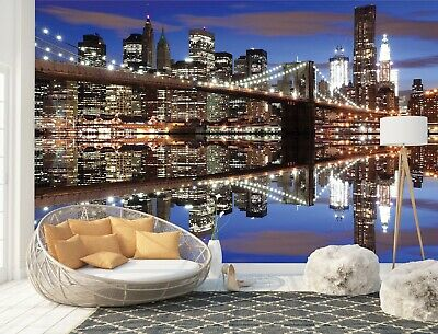 Wall Mural Photo Wallpaper Picture EASY-INSTALL Fleece Brooklyn Bridge New York