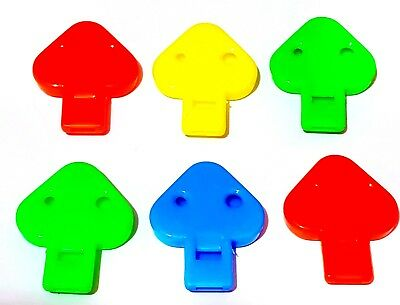 12pc Flat whistle - ideal for Boys Girls Kids birthday party favor Pinata filler (Pinatas For Boys)