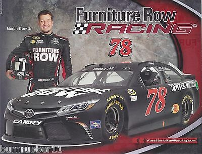 2016 Martin Truex Jr  Furniture Row Toyota Camry   78 Nascar Sprint Cup Postcard