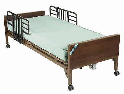 Drive Medical Delta Ultra Light Full Electric Bed With Half Rails And Therape...