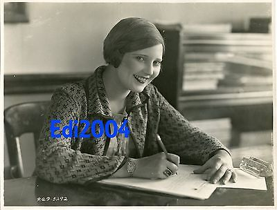 THELMA TODD Vintage Original 1925 Photo Dbl-Wgt VERY EARLY Career Fashion Model