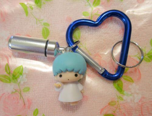 Twin Kiki Key Ring Chain~Aluminum Pill Case~Heart Carabiner