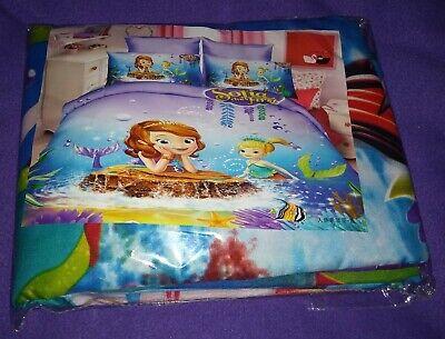 Kids Bedding Twin Set Disney's Prince Sofia Duvet Comforter Cove Pillow Case