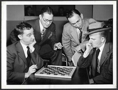 Jimmy Durante Gary Moore Playing Checkers 1940s Original Promo Press Photo