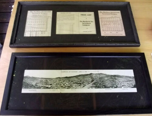 Rawhide Nevada Lot - 1908 Panoramic, Northern Investment Co, Framed, Ghost Town