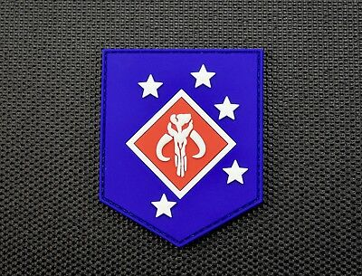 3D PVC Mandalorian Raider Morale Patch GITD Star Wars MARSOC USMC Boba Fett