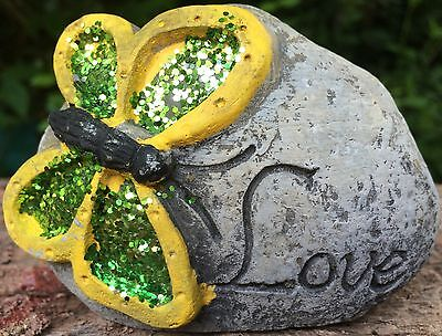 Butterfly Love Rock, Small Latex Only Concrete Mold, cement, plaster