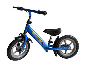 CHILDRENS KIDS BOYS METAL BALANCE TRAINING BIKE FIRST TRIKE - BLUE