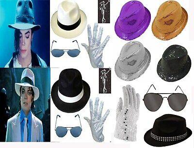 MICHAEL JACKSON HAT & SEQUIN GLOVE SET DELUXE FANCY DRESS GANGSTER COSTUME ](1950s Gangster Halloween Costumes)