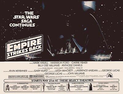 "THE EMPIRE STRIKES BACK repro Subway teaser poster 30x40"" Star Wars rare quad"