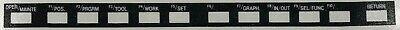 Hitachi Seiki Cnc Keypad Membrane Control Panel Overlay - Hs1015