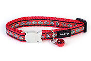 Red Dingo Red  Reflective Cat Collar and Free Engraved ID TAG