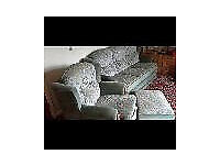 3 Seater Sofa, Armschair and Footstool