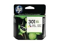 Genuine Authentic HP 301XL Tricolour printer ink
