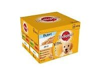 hi for sale i have pedigree puppy pouches used half a box but still got one and a half left to sell