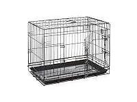 Large two door dog crate - unused.