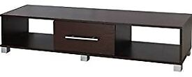 TV Plasma Stand Widescreen Unit Madison 1 Drawer (Wenge / Dark Brown) Flat Pack