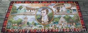 Robbie Burns Axminster Picture Rug Wall Hanging
