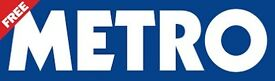 Metro Distributor Bath city centre £9 per hour + paid holiday - weekdays - 07:30am - 10:00am