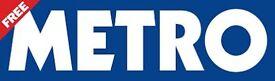 Metro Distributor Derby city centre - weekdays - 7am-9.30am