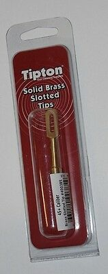 Battenfeld Tipton Brass Slotted Tip for 45+ Caliber Rifle, Pistol Gun Cleaning