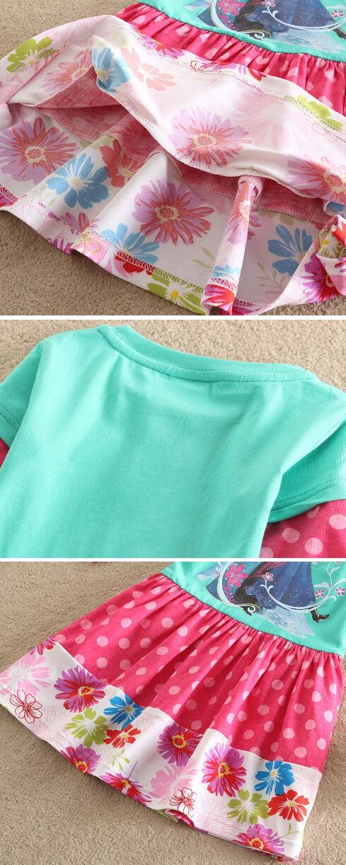 Manica Lunga Mini Dress A00021-2-3 Vestiti Bambina Frozen Girl Dresses