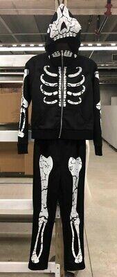 CHILD SKELETON HOODIE SWEATSUIT COSTUME SIZE LARGE - Skeleton Sweat Suit