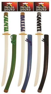 Jungen Mädchen Ninja Schwert Klebe & Mantel Kostüm Kleid Outfit Spielzeug