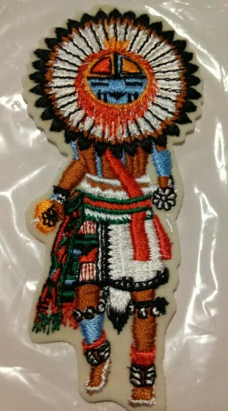 """TAWA (SUN KACHINA) Embroidered Patch #105 Excellent Condition 5 1/4"""""""