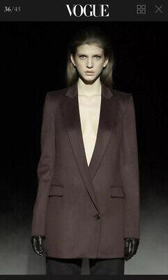 HUSSEIN CHALAYAN Wool Navy Blazer Coat UK8 £1,200