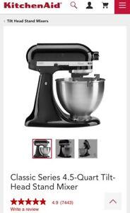BNIB Kitchenaid Mixer 4.5 Qt K45SS