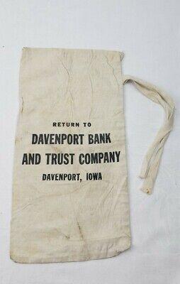 1920s Style Purses, Flapper Bags, Handbags 1920s DAVENPORT BANK AND TRUST COMPANY BANK MONEY BAG $12.90 AT vintagedancer.com