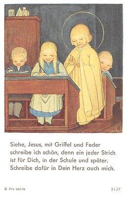 "Fleißbildchen Heiligenbild Gebetbild Andachtsbild Holy cards Ars sacra"" H28""60`S"