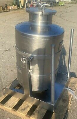 Bosio 250 Liter Dumping Tilting 316l Stainless Steel Tank - Pressure Vessel