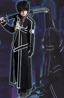 Swords Online Kirito Vestito Carnevale Cappotto Coat Cosplay Unisex SWORDA20