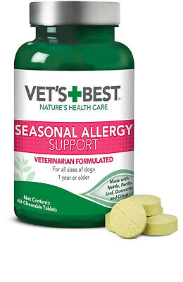 Vet's Best Seasonal Allergy Relief Dog Supplement Relief For Dry Itchy Skin (Best Supplements For Senior Dogs)