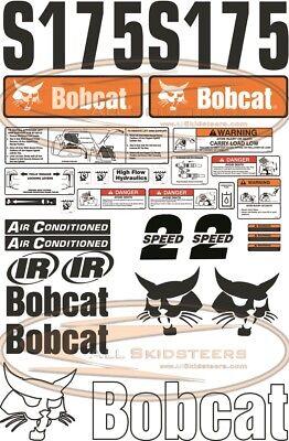 30pcs Bobcat S175 Out Side Decal Sticker Kit New Style Skid Steer Loader Number