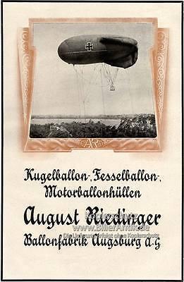 August Riedinger Ballonfabrik Augsburg Kugelballons Platte Motor A2 104