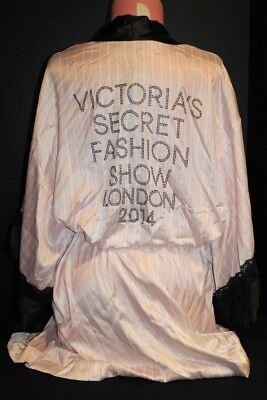 Victoria's Secret 2014 Fashion Show Robe *Nw/T* One Size *Pink* Lace *BLING*