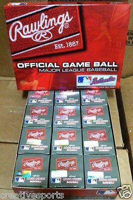 DOZEN RAWLINGS OFFICIAL LEATHER MAJOR LEAGUE BASEBALLS ROMLB MLB - QTY12  MANFRED