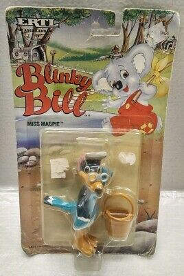 Vintage 1995 ERTL Blinky Bill Miss Magpie Bird Figure Figurine Toy NEW NIP READ - Blinkies Toy