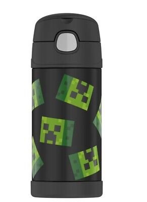 THERMOS MINECRAFT  12oz FUNTAINER WATER BOTTLE WITH STRAW - NEW