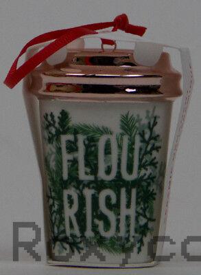 2017 Starbucks Flourish Cup Holiday Christmas Tree Ornament NWT ()
