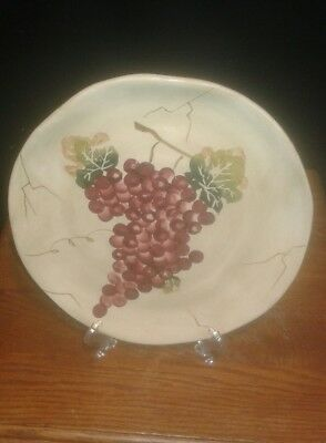 "Used, Tabletops Unlimited ""Cabernet"" Salad Plate - Red Grapes for sale  Waukee"