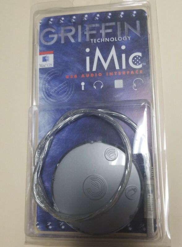 Griffin Technology iMic USB Stereo Input Output Audio Adapter External Soundcard