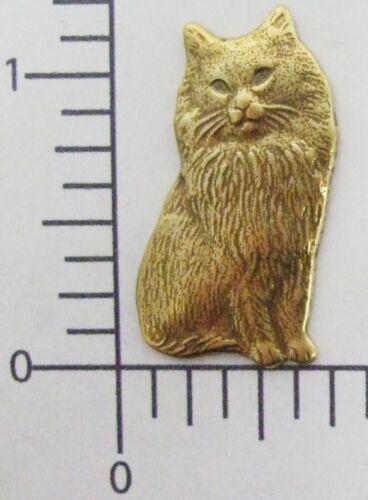 41603 - Victorian Sitting Cat Jewelry Finding Brass Oxidized