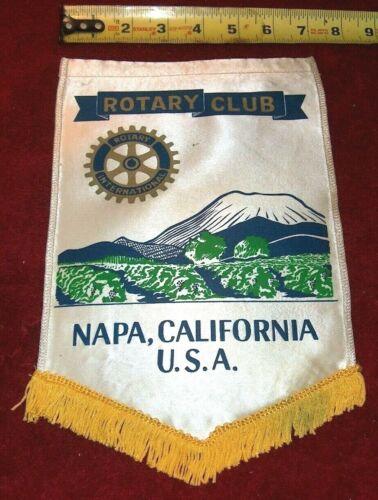 VINTAGE Rotary International Club wall banner flag   NAPA   CA.