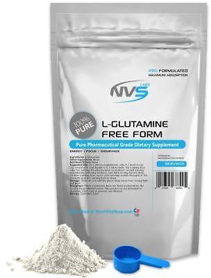 2.2lb (1000g) 100% L-GLUTAMINE POWDER FREE FORM KOSHER PHARMACEUTICAL GRADE