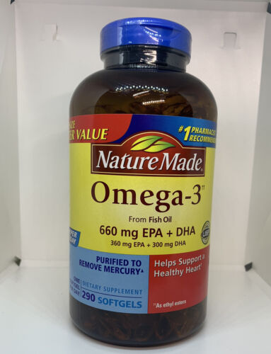 NEW ✨ Nature Made Omega-3 from Fish Oil 1200 mg Softgels 290 Count Exp 03/22+ ✨