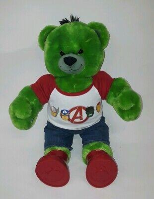 Build a Bear Incredible Hulk Bear Marvel Super Hero with Avengers Outfit & Shoes (Build A Bear Superhero)
